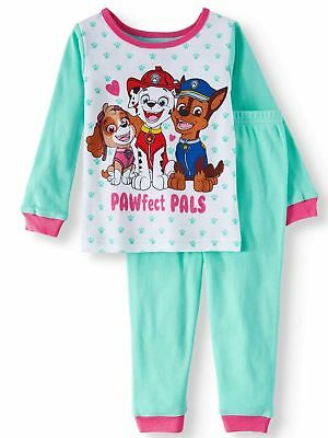 Paw Patrol Toddler Girls Pajamas 2 Pc Set COTTON Pants Long Sleeves