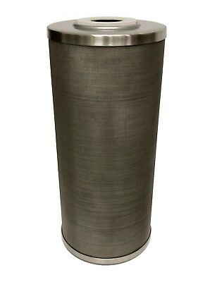 "Stainless Steel Cleanable Screen Filter Cartridge, 10"" length, 4.3""OD, 50 micron"