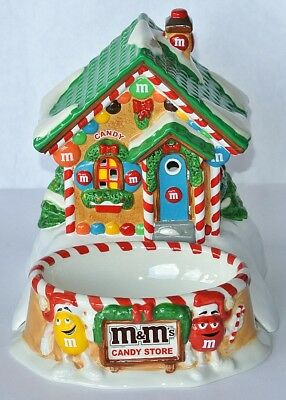 M&M´S KERAMIK HAUS * CANDY STORE * - Lighted House w. Candy Dish - US Import