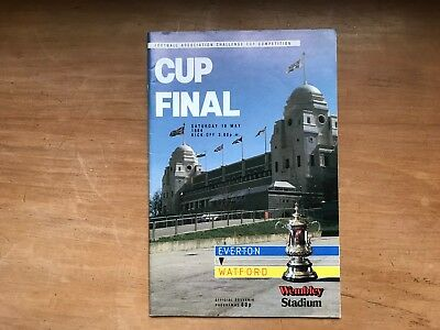 FA Cup Final Everton v Watford 1984 Mint condition.