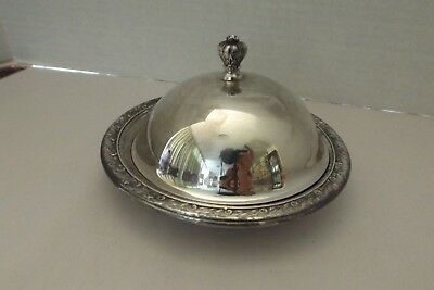 Vtg Reed And Barton Silverplate Butter Dome/dish #1209