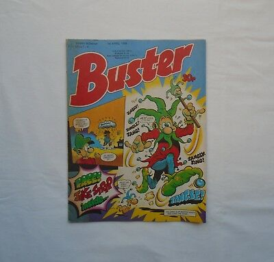Buster Comic 1st April 1989 - Melvyns Mirror / Ivor & Tony / My Dad Mum /Vid Kid
