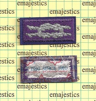 Bsa Youth Religious Award Square Knot Patch Silver Purple Since 1910 Back Mint
