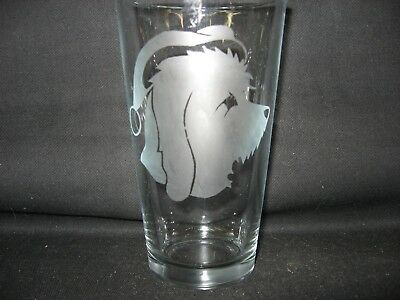 New Etched Petit Basset Griffon Vendeen Christmas Santa Claus Pint Glass Tumbler