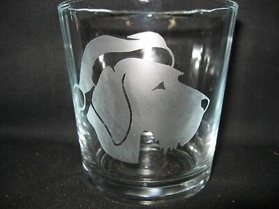 New Etched German Wirehaired Pointer Santa Claus Old-Fashioned Rocks Glass