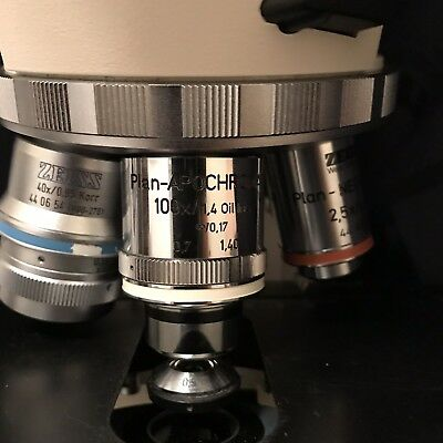 Zeiss plan apochromat 100x/1.40 Oil iris RMS Axioskop Axio Scope