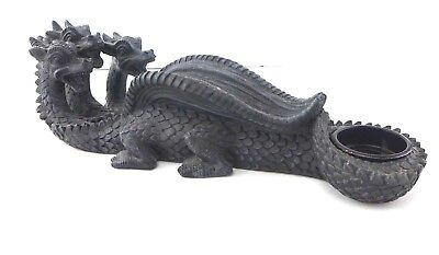 """3 Headed Dragon Hydra Monster Incense Burner Cone / Candle & Stick 10.25"""" long"""