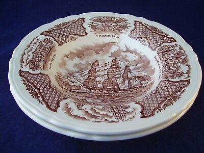 Alfred Meakin Fair Winds 2 Rimmed Soup Bowls Grand Turk under Full Sail England