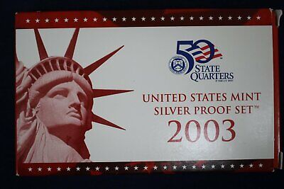 2003 United States Mint Silver Proof 10 Piece Set with Box and COA