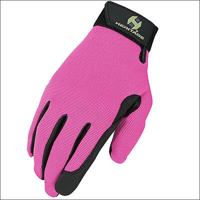 9 Size Pink Heritage Performance Horse Riding Elastic Training Stretch Gloves