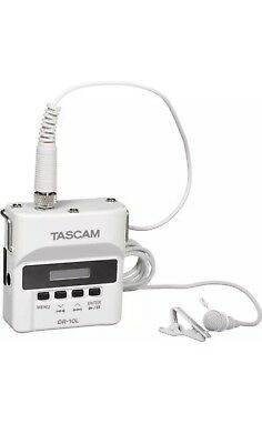 ***Brand New*** Tascam DR-10L Digital Audio Recorder with Lavalier Mic (White)