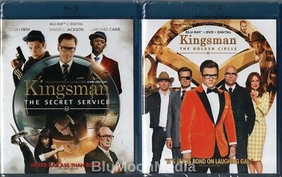 Kingsman 1 & 2 BLU-RAY + Digital Lot Secret Service Golden Circle movie set NEW