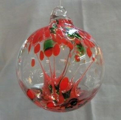 "Hanging Glass Ball 4"" Diameter ""Christmas Tree"" Witch Ball (1) GB2"