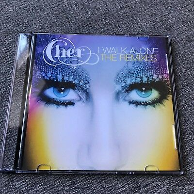 Cher 'I Walk Alone' USA Remixes CD USA Promo Rare & Postcard