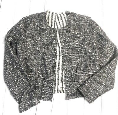 T/9 Tami Chomski Sustainable Recycled Materials Cropped Sweater Jacket Stunning