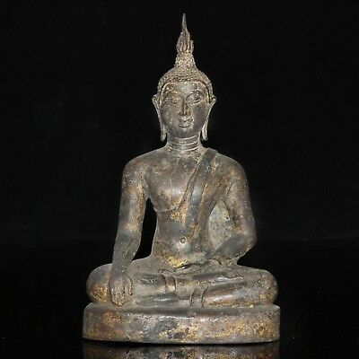 RARE Antique Thai Ayutthaya Bronze Statue of the BUDDHA 15-16th Century AD