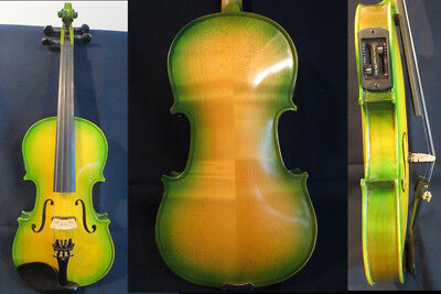 Full size Electric Acoustic Violin 4/4, Maple Spruce wood Powerful Sound #13044