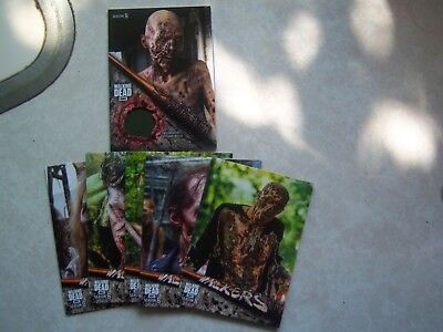 2018  Walking Dead Season 8 Walker  Relic Card Wr-1 + 6 W 2, 3, 4, 5, 6, 7, 8,10