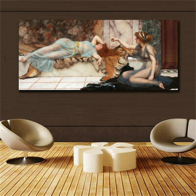19 century Europe Court Oil Painting HD print on canvas Expensive lady