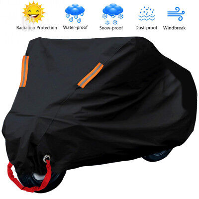 Wisfox Motorbike Cover 190T Motorcycle Heavy Duty Anti Dust Rain UV Indoor...