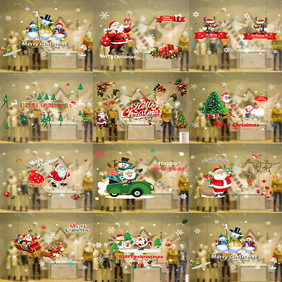 Removable Merry Christmas Vinyl Wall Sticker Window Cling Decal Winter Decor