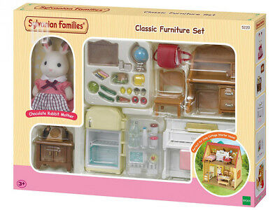 Sylvanian Families Classic Furniture Set for Cosy Cottage Starter Home,...