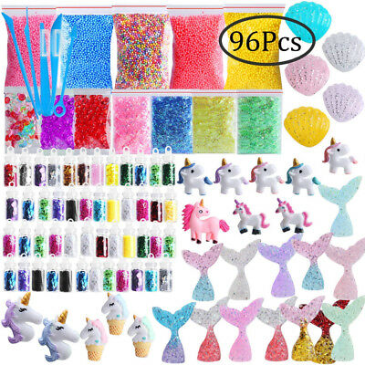 Slime Supplies Kit, Outee 96 Pack Glitter Add Ins Fish Bowl Beads Floam...