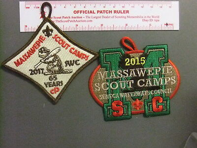 Boy Scout Massawepie Camps Pair of Patches 1933GG