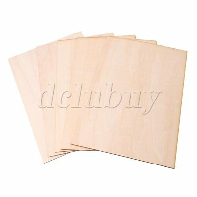 5 x Unfinished Craft Wooden Sheets 300x200x1.5mm for Architectural Model