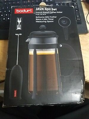 French Press Coffee Maker Bodum Java 34 Ounce 1 Liter 8 Cup Black With Frother