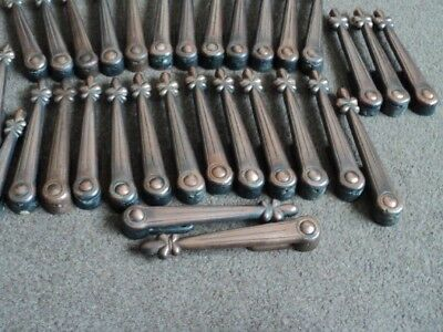 Full Set 26 Vintage Coppered Stair Carpet Grips/ Clips Like Rods