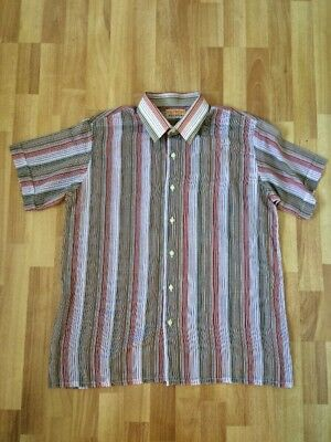 VINTAGE GLOWEAVE VOILE Men's Size XL Polyester Shirt Light Weight Stripes 60s