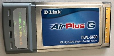 D-Link Air Plus G Wireless DWL‑G630 CardBus Adapter  PCMCIA