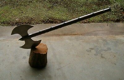 "Large  30"" Medieval Double Edge Battle Axe , Executioners Axe , Free Shipping !"