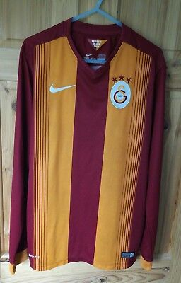 Nike Galatasaray FC 2014/15 Small S Home Football Shirt Jersey Long Sleeves Top