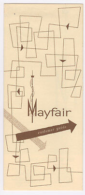 Mayfair Shopping Mall Pre-Opening Brochure 1958? Brochure with store map