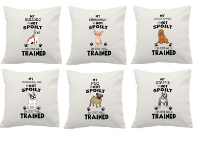 Dog Bulldog//Chihuahua//Cocker Spaniel//French Bulldog//Pug//Staffie cushion cover