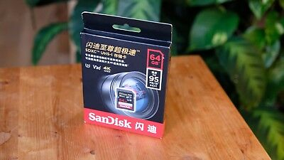 SanDisk Extreme Pro 64 GB SDXC Memory Card up to 95 Mb/s Class 10 U3 V30