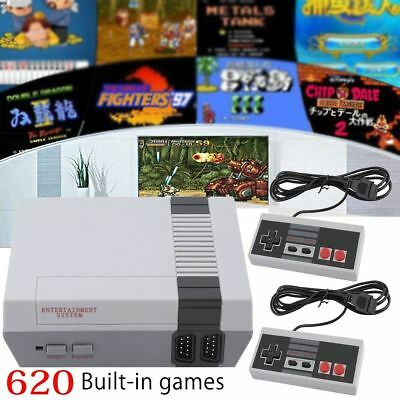 2018 Mini Vintage Retro TV Game Console Classic 620 Built-in Games 2 Controllers