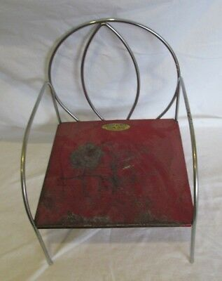 Vintage Childs Booster Seat Jack And Jill Kiddie Chair Red
