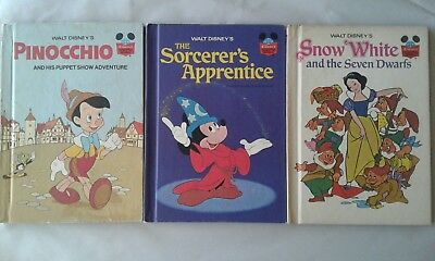Lot of 3 Vintage Walt Disney's Wonderful World of Reading Books Hardcover