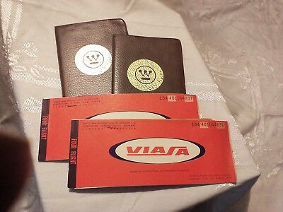 Venezuelan International Airway Pass Ticket Baggage Claim Westinghouse 1970