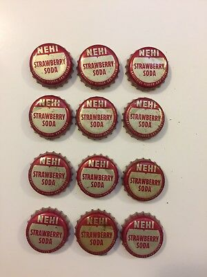 Vintage Nehi Strawberry Soda Bottle Caps With Cork Liners