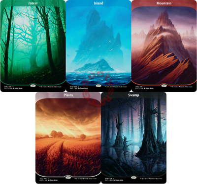 MTG Unstable UST Choose your Basic Land Extended Art - Buy 2 or more save 10%