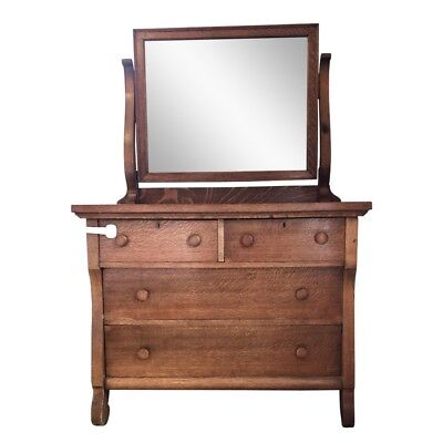 Quarter-Sawn Tiger Oak Dresser - Park Slope Brooklyn