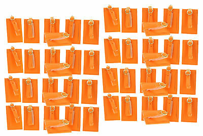 Lot of 48 Neon Orange Luggage Tags With Strap Travel ID Suitcase