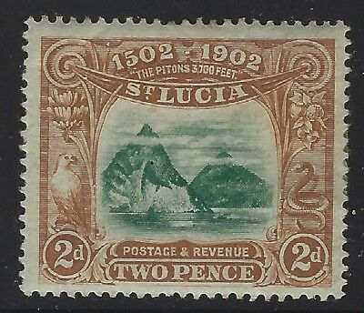 St Lucia 1902 The Pitons Sc# 49 mint