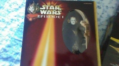 Queen Amidala Collectible Doll New In Box, Black Dress and Head Dress