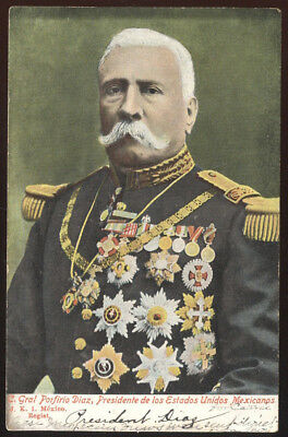 Early Picture Post Card, C. Gral Porfirio Diaz, President Of Mexico