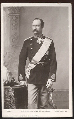 Early Rotary Photo Post Card, Frederik Viii, King Of Denmark